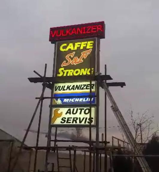 Izrada svetlecih bilborda, totema za pumpe, servise, firme